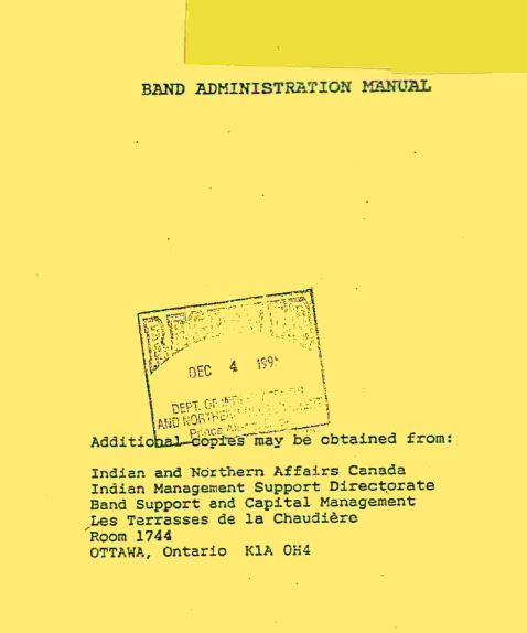 ISC - Band Administration Manual