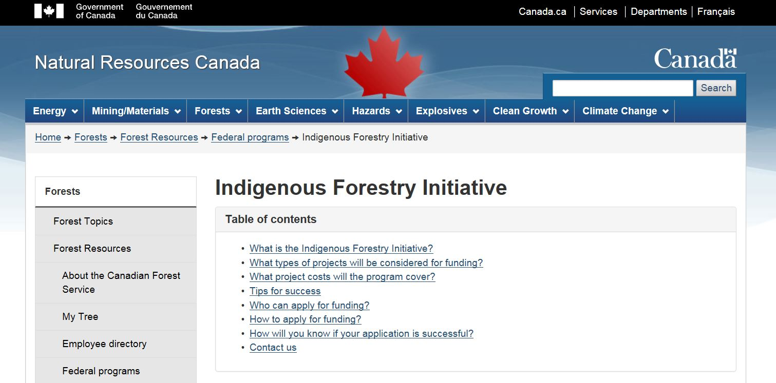 SKFN-Natural Resources Canada - Indigenous Forestry Initiative